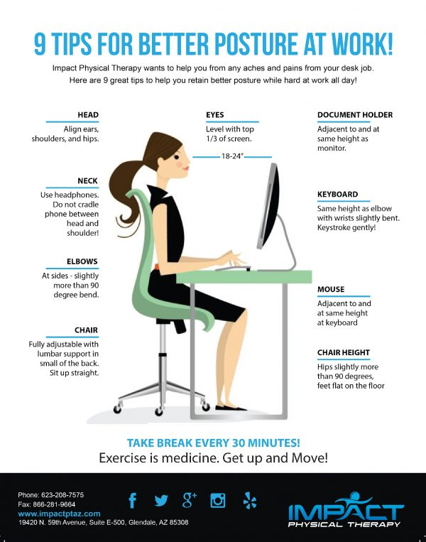 9 Tips For Better Posture At Work